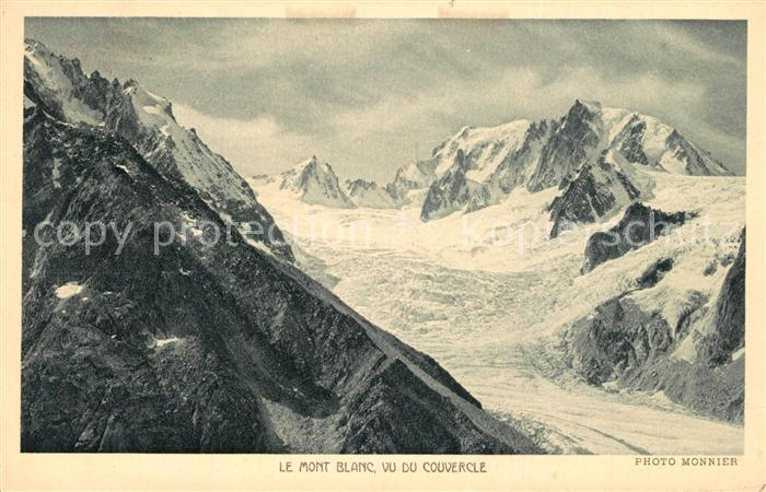 AK / Ansichtskarte Mont_Blanc Vu du Couvercle Winter Mont_Blanc 0