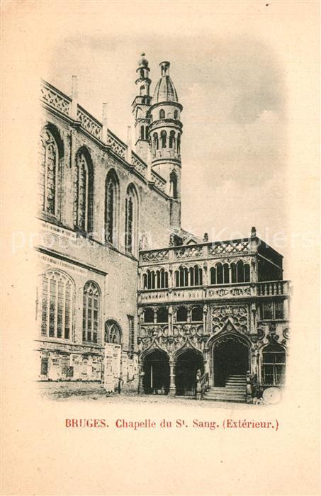 AK / Ansichtskarte Bruges_Flandre Chapelle du Saint Sang Bruges_Flandre 0