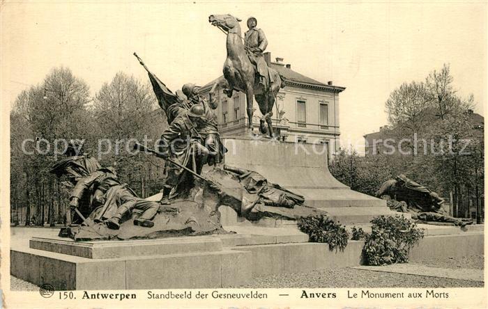 AK / Ansichtskarte Antwerpen_Anvers Monument aux Morts Antwerpen Anvers 0