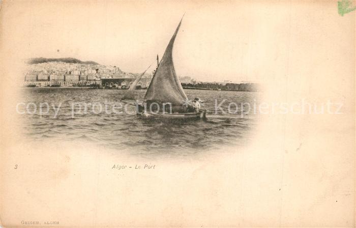 AK / Ansichtskarte Alger_Algerien Hafen Alger Algerien 0