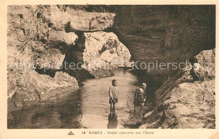 AK / Ansichtskarte Gabes Voute naturelle sur l Oued Gabes