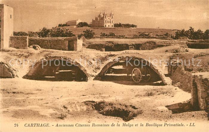AK / Ansichtskarte Carthage_Karthago Anciennes Citernes Romaines de la Malga Basilique Primatiale Carthage Karthago 0