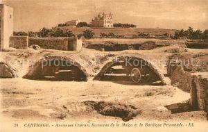 AK / Ansichtskarte Carthage_Karthago Anciennes Citernes Romaines de la Malga Basilique Primatiale Carthage Karthago