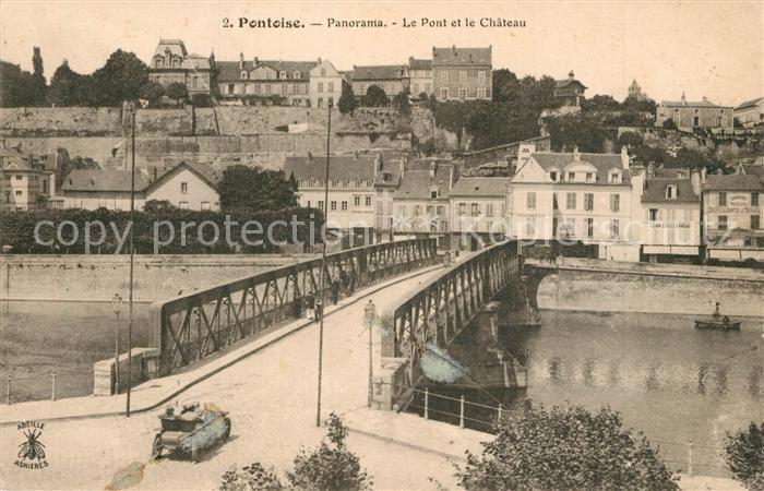 AK / Ansichtskarte Pontoise_ Val d_Oise Panorama Pont Chateau Pontoise_ Val d_Oise 0