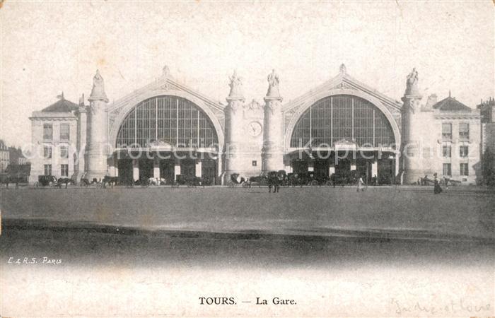 AK / Ansichtskarte Tours_Indre et Loire La Gare Tours Indre et Loire 0