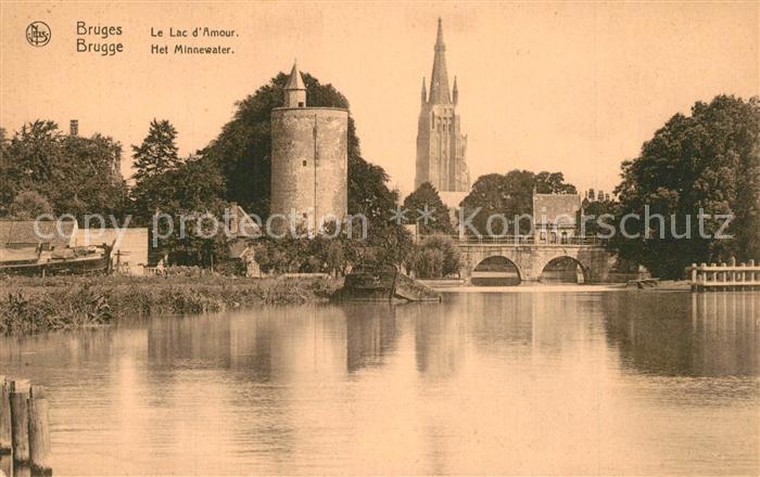 AK / Ansichtskarte Bruges_Flandre Le Lac d Amour Bruges_Flandre 0