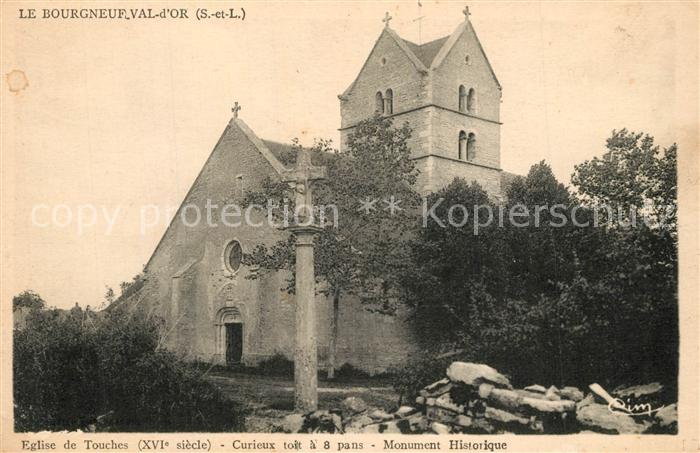 AK / Ansichtskarte Bourgneuf_Val_d_Or Eglise de Touches Monument Historique Bourgneuf_Val_d_Or 0