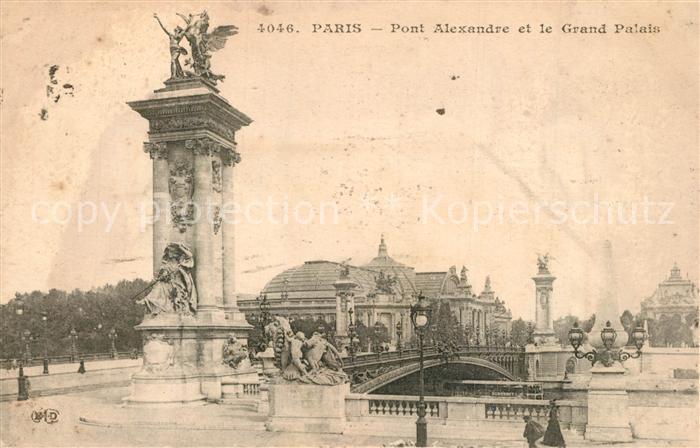 AK / Ansichtskarte Paris Pont Alexandre Grand Palais Paris 0