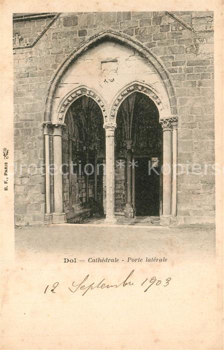 AK / Ansichtskarte Dol de Bretagne Cathedrale Porte laterale Dol de Bretagne 0