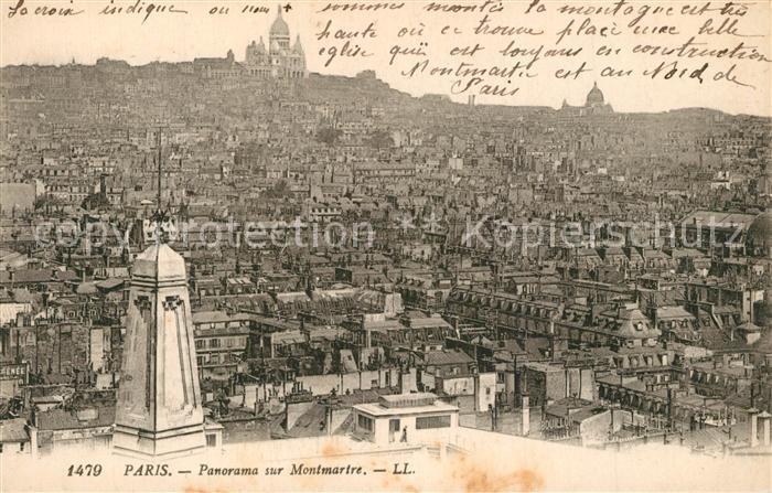 AK / Ansichtskarte Paris Panorama sur Montmartre Paris 0