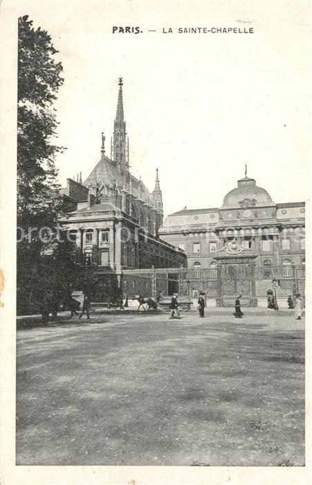 AK / Ansichtskarte Paris Sainte Chapelle Paris 0
