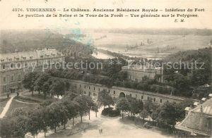 AK / Ansichtskarte Vincennes Chateau Residence Royale pavillon Reine Tour de la Foret Vincennes