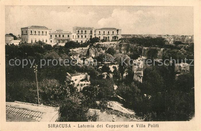 AK / Ansichtskarte Siracusa Latomia dei Cappuccini Villa Politi Siracusa 0