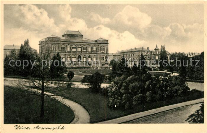 AK / Ansichtskarte Weimar_Thueringen Museumsplatz Weimar Thueringen 0