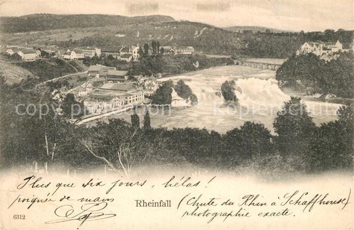 AK / Ansichtskarte Rheinfall_SH Panorama Rheinfall SH