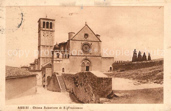AK / Ansichtskarte Assisi_Umbria Chiesa Superiore di San Francesco Assisi Umbria