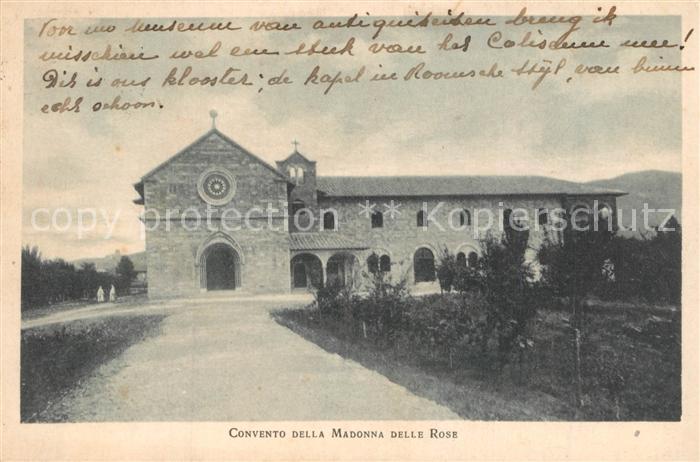 AK / Ansichtskarte Assisi_Umbria Convento della Madonna delle Rose Assisi Umbria
