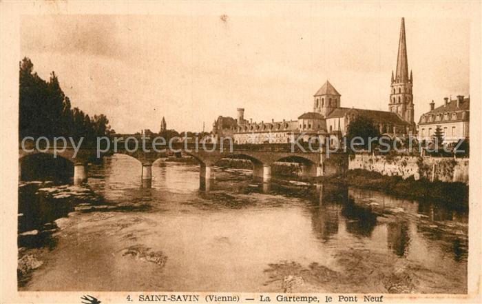 AK / Ansichtskarte Saint Savin_Vienne La Gartempe Pont Neuf Saint Savin Vienne