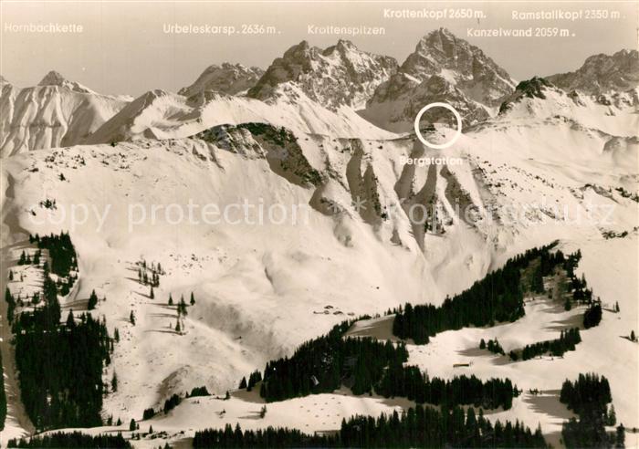 AK / Ansichtskarte Kleinwalsertal Riezlern Winterlandschaft Kleinwalsertal