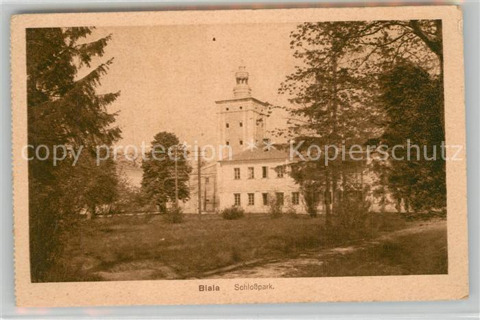 AK / Ansichtskarte Biala_Bielitz Schloss Park Biala_Bielitz