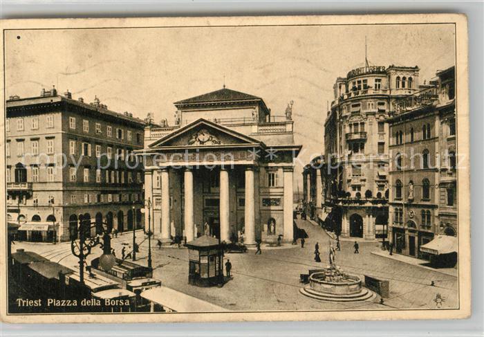 AK / Ansichtskarte Trieste Piazza della Borsa Trieste