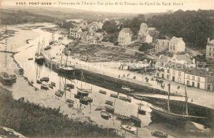 Pont Aven Vue prise de la Terrasse du Castel du Barde Botrel Pont Aven