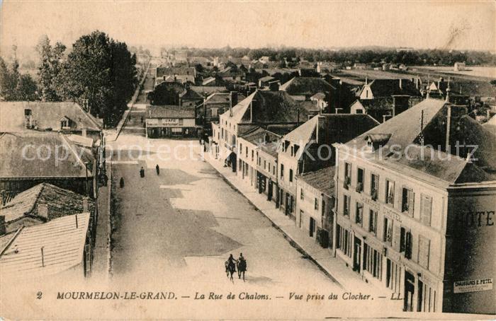 Mourmelon le Grand Rue de Chalons Pferde Vue prise du Clocher Mourmelon le Grand