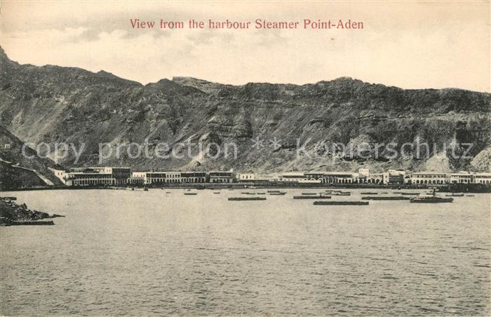 Aden View from Harbour Steamer Point Aden Aden