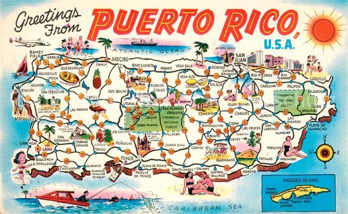 Puerto Rico Landkarte Puerto Rico