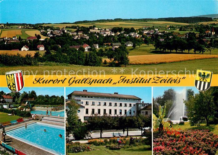 Gallspach Gesamtansicht Institut Zeileis Freibad Kurhaus Kurpark Gallspach