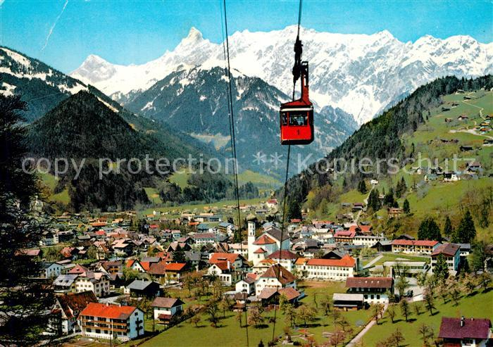 Schruns_Vorarlberg mit Montafoner Hochjochbahn Alpenpanorama Schruns Vorarlberg