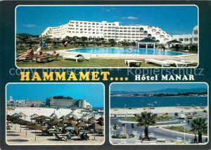 Hammamet Hotel Manar Swimming Pool Strand Panorama Hammamet