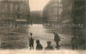 Paris Inondations Janvier 1910 Gare Saint Lazare Paris