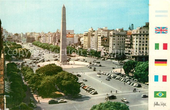 Buenos_Aires Avenida 9 de Julio Monumento Buenos Aires