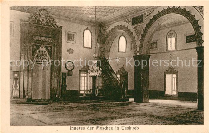 ueskueb_Uskub Inneres der Moschee ueskueb Uskub