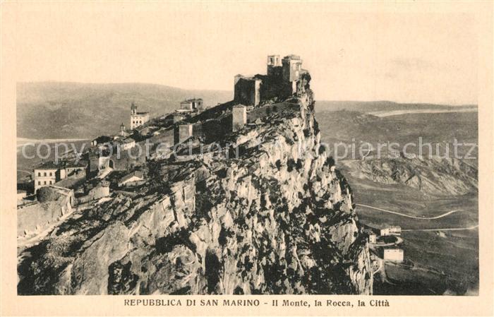 San Marino Il Monte la Rocca Citta San Marino