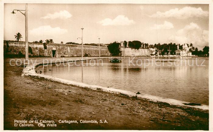 AK / Ansichtskarte Cartagena_de_Indias Paisaje de El Cabrero Cartagena_de_Indias