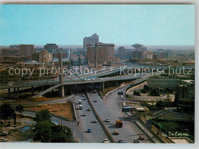 AK / Ansichtskarte Riyadh Clover leaf intersection towards Bathra Riyadh