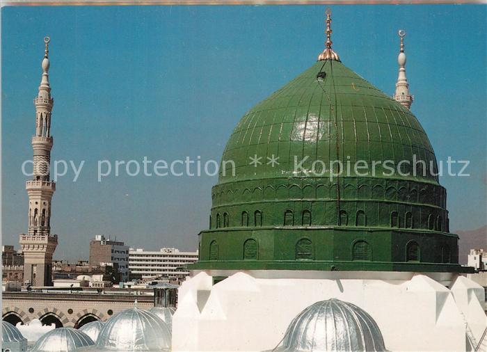 AK / Ansichtskarte Medina Green Dome over the Prophet s rawdah in Prophet s Mosque