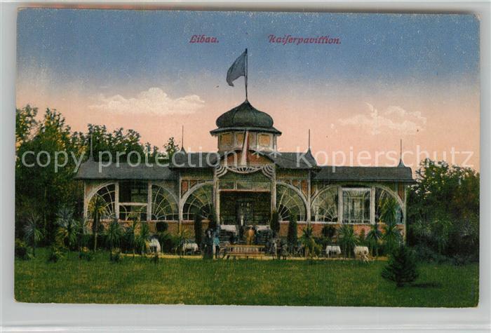 AK / Ansichtskarte Libau Kaiserpavillon Libau