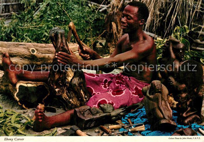 Tansania Ebony Carver Makonde craftsman Tansania