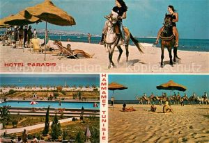 AK / Ansichtskarte Hammamet Hotel Paradis Swimming Pool Strand Reiten Hammamet