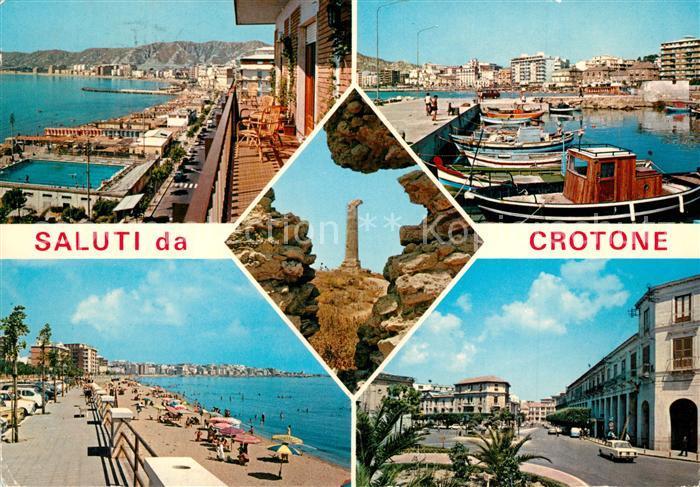 Crotone Teilansichten Hafen Strand Crotone