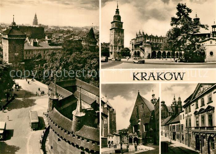 Krakow_Krakau Rathaus Stadtturm Brunnen  Krakow Krakau