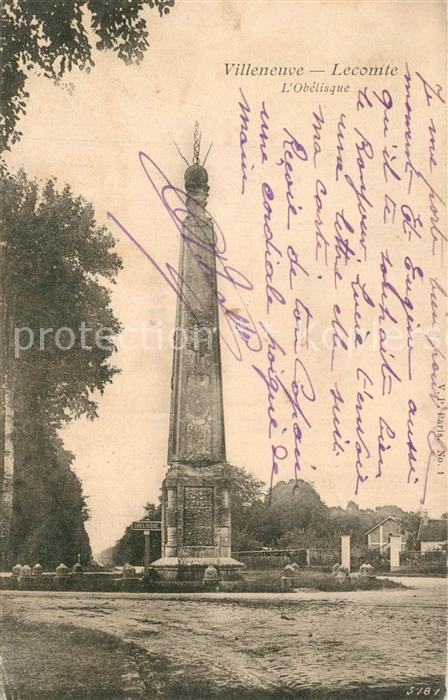 Villeneuve le Comte Obelisk Villeneuve le Comte