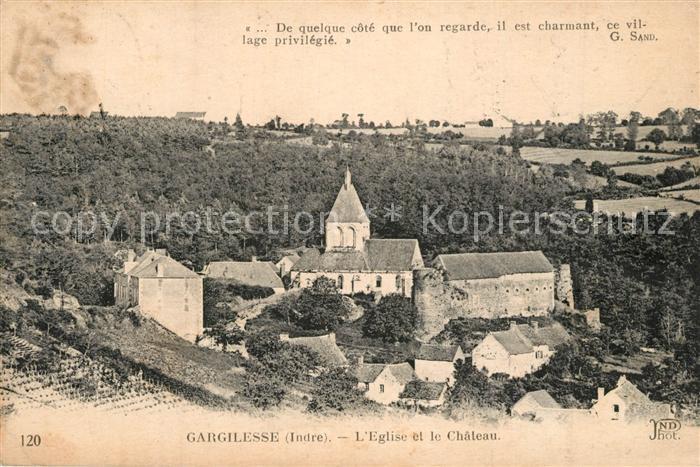 Gargilesse Dampierre Eglise Chateau Gargilesse Dampierre