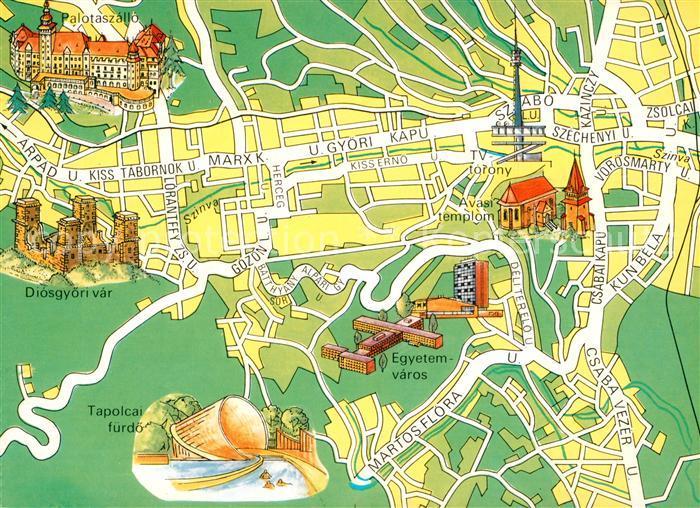 Miskolc Stadtplan Miskolc