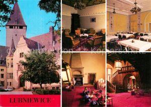 Lubniewice Dom Wypoczynkowy Zamek czytelnia jadainia hall Schloss