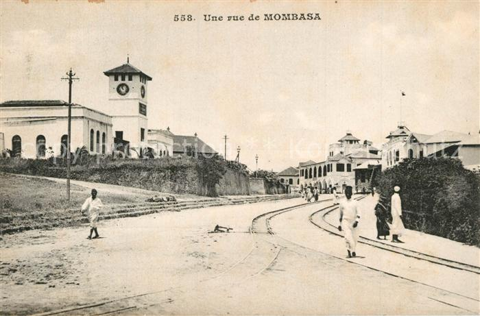 Mombasa Strassenpartie Mombasa