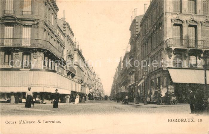 Bordeaux Cours d`Alsace et Lorraine Bordeaux